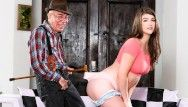 That babe craves this granddad to be her sugar dad