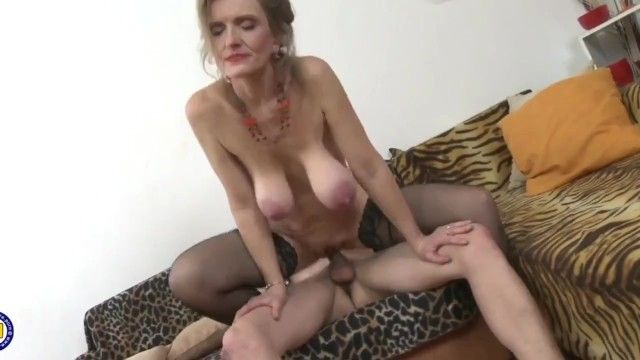 Breathtaking cougar milf with large saggy whoppers receives hardcore drilled