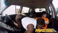 Fake driving school sexy ebon jai james with biggest wobblers can not drive