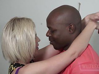Large tit milf receives fuck by a large dark ramrod