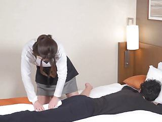 Subtitled japanese hotel massage leads to oral stimulation in hd