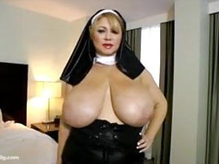 Hot milf bbw samantha 38 dresses up as nun plays with cum-hole